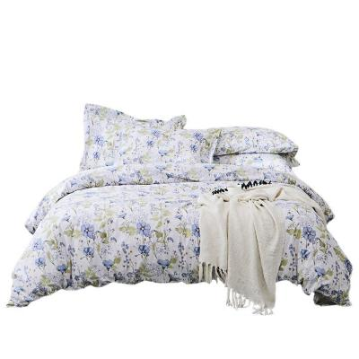 UMI. Essentials 100% Multi-Coloured Cotton Printed Duvet Set