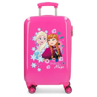 Disney Sparkle Frozen Fuchsia Hardside Carry-on Suitcase